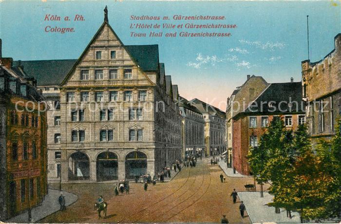 AK / Ansichtskarte Koeln_Rhein Stadthaus Guerzenichstrasse  Koeln_Rhein