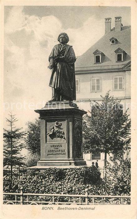 AK / Ansichtskarte Bonn_Rhein Ludwig von Beethoven Denkmal Bonn_Rhein