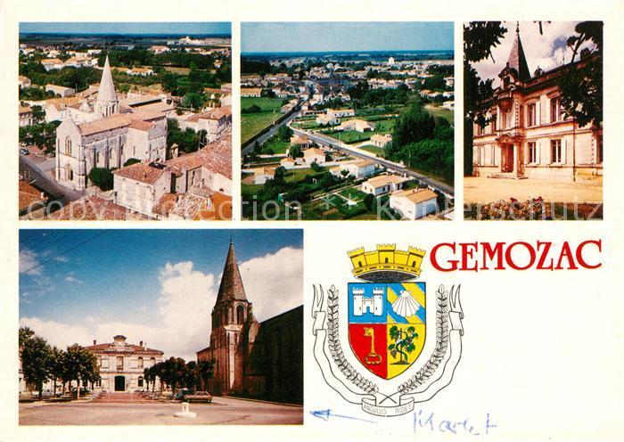 AK / Ansichtskarte Gemozac Kirche Rathaus Marktplatz Gemozac