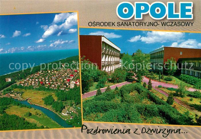 AK / Ansichtskarte Opole_Lubelskie Fliegeraufnahme Pozdrowienia z Dzwirzyna Opole_Lubelskie