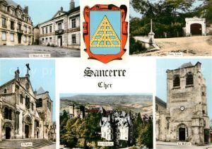AK / Ansichtskarte Sancerre Hotel de Ville Porte Cesar Eglise Chateau Le Beffroi Sancerre