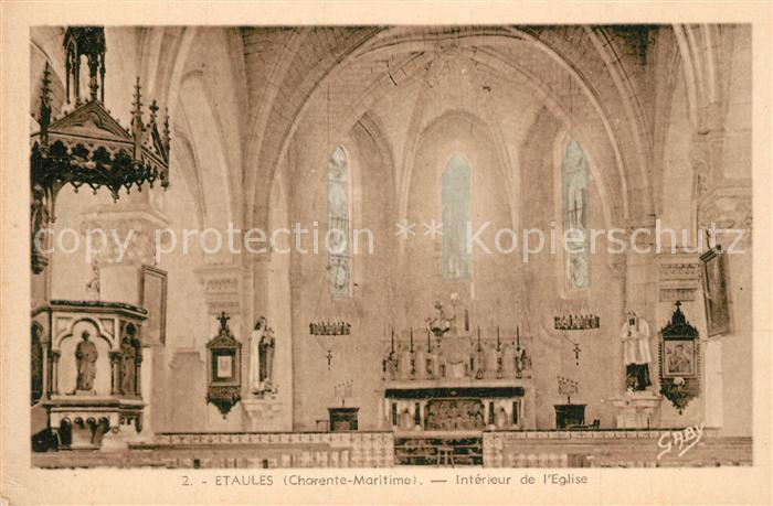 AK / Ansichtskarte Etaules_Rochefort Interieur de l Eglise Etaules_Rochefort