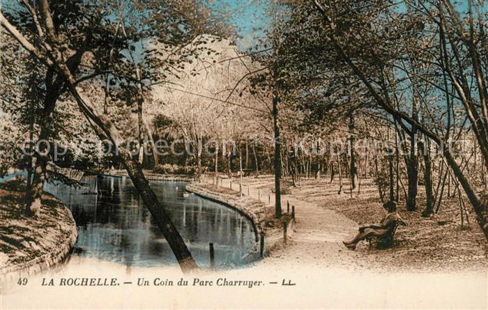 AK / Ansichtskarte La_Rochelle_Charente Maritime Un coin du Parc Charruyer La_Rochelle