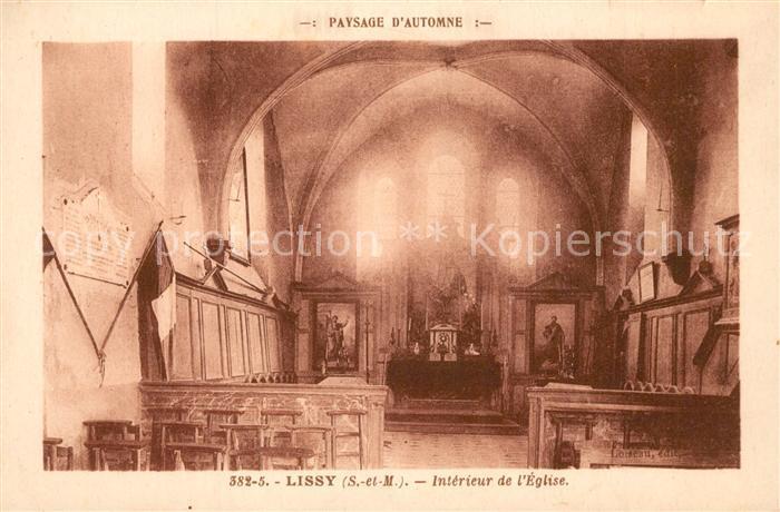 AK / Ansichtskarte Lissy Interieur de l Eglise Lissy