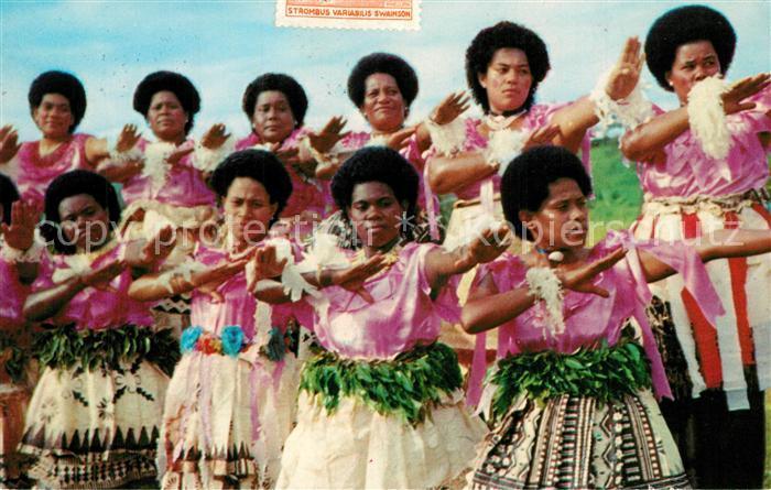 AK / Ansichtskarte Noumea Nouvelle Caledonie Fijian Meke Tanz  Noumea