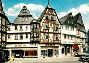 AK / Ansichtskarte Limburg_Lahn Partie am Kornmarkt Fachwerkhaeuser Altstadt Limburg_Lahn