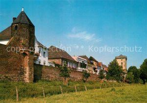 AK / Ansichtskarte Zons Rheinfront Wachttuermchen Rheinturm Stadtmauer Zons