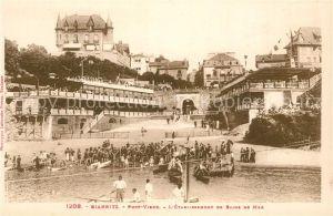 AK / Ansichtskarte Biarritz_Pyrenees_Atlantiques Port vieux Etablissement de Bains de Mer Biarritz_Pyrenees