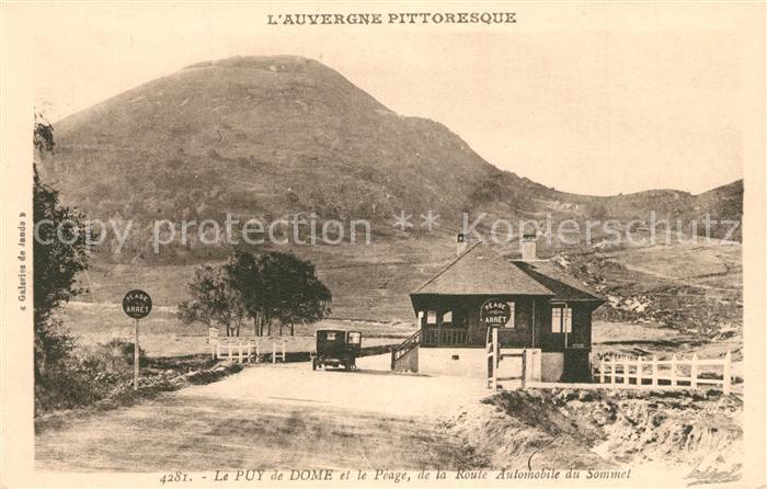 AK / Ansichtskarte Le_Puy_de_Dome et le Peage de la Route Automobile du Sommet Le_Puy_de_Dome