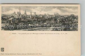 AK / Ansichtskarte Dijon_Cote_d_Or Vue generale prise de la Montagne au dessus de la Fontaine de Larrey Kuenstlerkarte Dijon_Cote_d_Or