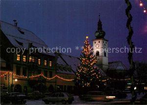 AK / Ansichtskarte Tirschenreuth Marktplatz zur Weihnachtszeit Tirschenreuth