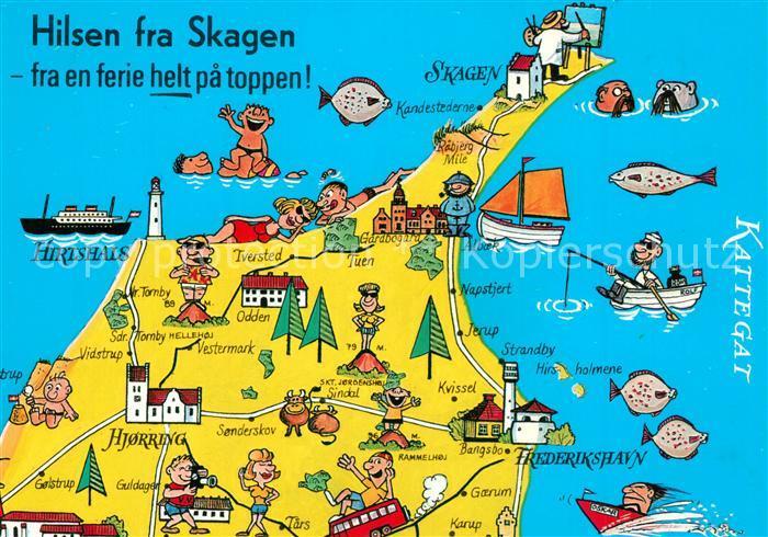 AK / Ansichtskarte Skagen Lageplan Skagen