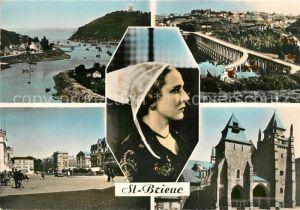 AK / Ansichtskarte Saint Brieuc_Cotes d_Armor Sous la Tour Entree du Port Viaduc de Souzain Place Du Gueselin La Cathedrale Saint Brieuc_Cotes d