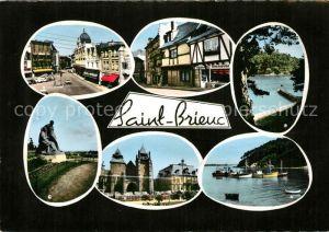 AK / Ansichtskarte Saint Brieuc_Cotes d_Armor Plage Dugueselin Vieilles Maisons rue Fardel Sous la Tour Monument La Cathedrale sous la Tour Le Legue Saint Brieuc_Cotes d