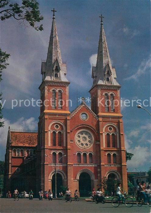 AK / Ansichtskarte Saigon Nha tho Duc Ba Saint Marie Cathedral Vietnam Architecture saigon