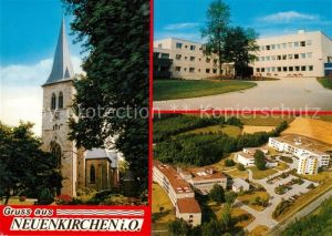AK / Ansichtskarte Neuenkirchen_Oldenburg Kirche Rathaus Fliegeraufnahme Neuenkirchen Oldenburg