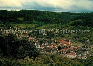 AK / Ansichtskarte Murrhardt Blick vom Hoffeld mit Stadtkirche Walterichskirche und St Maria Murrhardt