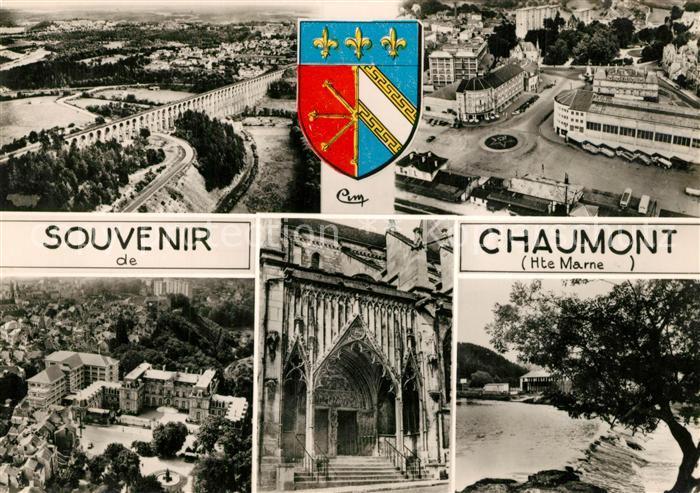 AK / Ansichtskarte Chaumont_Haute Marne Fliegeraufnahme Kirche  Chaumont Haute Marne