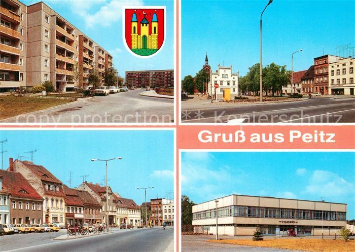 AK / Ansichtskarte Peitz Richard Wagner Strasse Markt Platz der Freundschaft Peitz