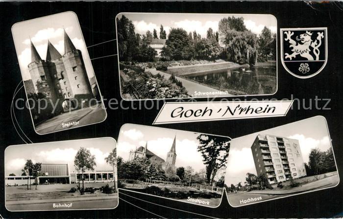 AK / Ansichtskarte Goch Steintor Banhofn Hochhaus Goch