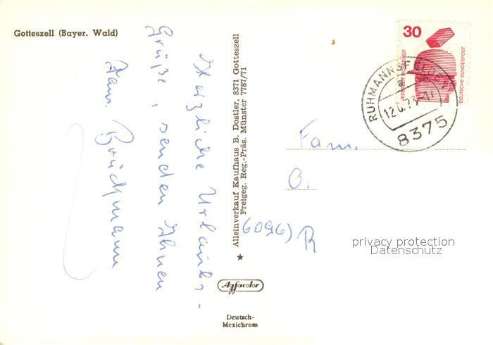 AK / Ansichtskarte Gotteszell  Gotteszell 1