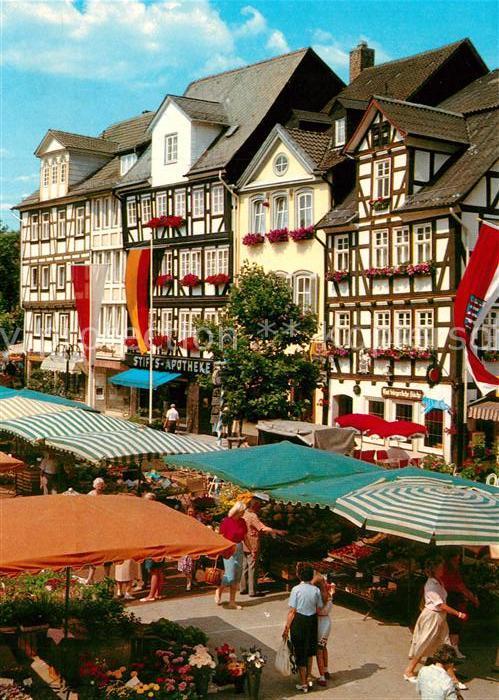 AK / Ansichtskarte Bad_Hersfeld Markt am Linggplatz Bad_Hersfeld