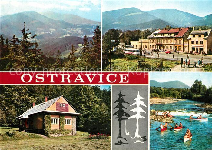 AK / Ansichtskarte Ostravice Bahnhof Panoramen Ostravice