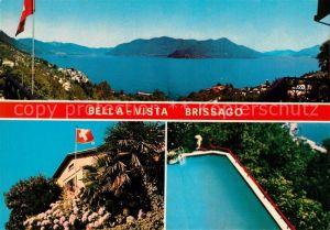 AK / Ansichtskarte Brissago_Lago_Maggiore Pension Restaurant Bella Vista Brissago_Lago_Maggiore