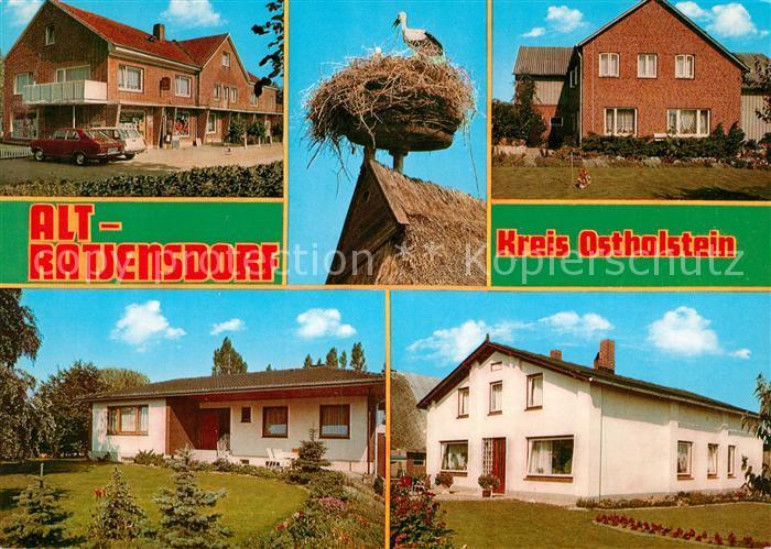 AK / Ansichtskarte Altratjensdorf Ladengeschaeft Storchennest Wohnhaeuser Altratjensdorf