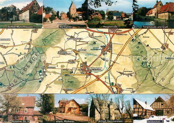 AK / Ansichtskarte Apelern und Umgebung Landkarte und Sehenswuerdigkeiten der Region Apelern