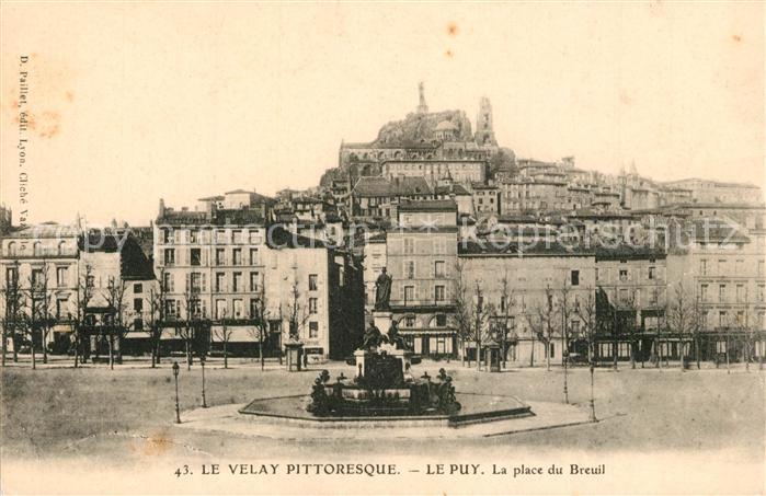 AK / Ansichtskarte Le_Puy en Velay Place du Breuil Le_Puy en Velay