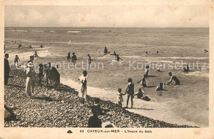 AK / Ansichtskarte Cayeux sur Mer L heure du bain Cayeux sur Mer