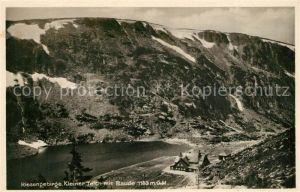 AK / Ansichtskarte Riesengebirge Kleiner Teich Baude Riesengebirge