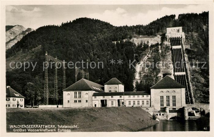 AK / Ansichtskarte Walchensee Walchenseekraftwerk Walchensee