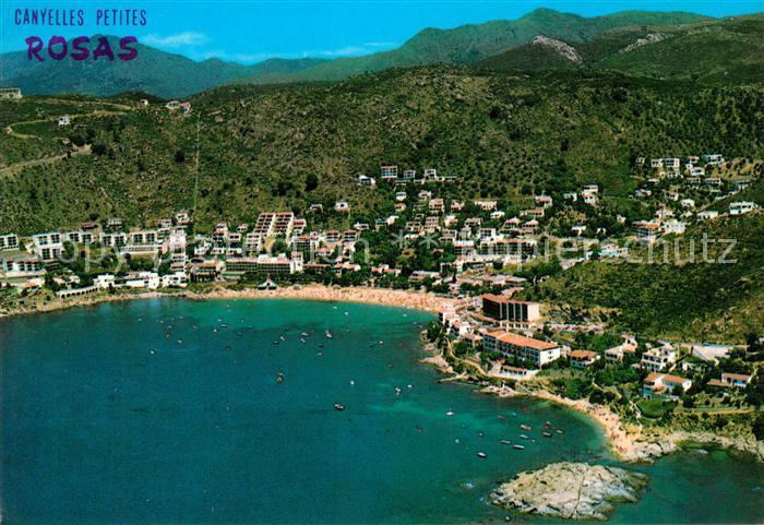 AK / Ansichtskarte Rosas_Costa_Brava_Cataluna Vista Aerea Canyelles Petites  Rosas_Costa