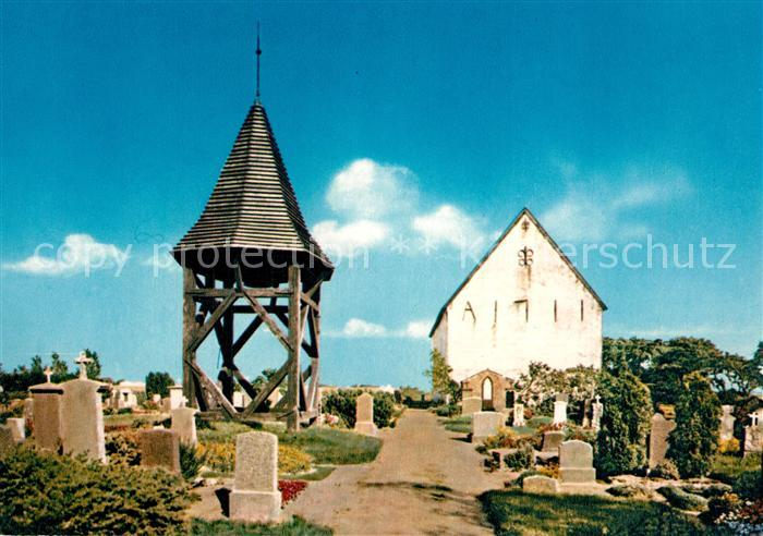 AK Ansichtskarte Morsum_Sylt Friedhof Glockenturm Morsum Sylt