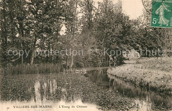 AK / Ansichtskarte Villiers sur Marne Etang du Chateau Villiers sur Marne