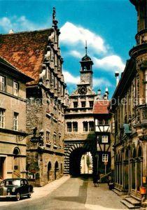 AK / Ansichtskarte Marktbreit Maintor mit Rathaus Marktbreit