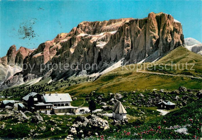 AK / Ansichtskarte Rifugio_Passo_Sella Gruppo del Sella Sellerjoch Berghotel Alpenpass Rifugio_Passo_Sella