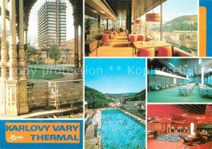 AK / Ansichtskarte Karlovy_Vary Lazenske sanatorium Thermal Thermalbad Sanatorium Karlovy Vary