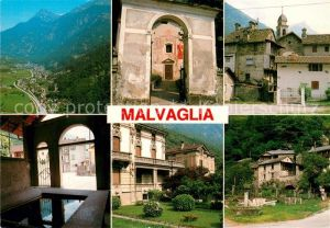AK / Ansichtskarte Malvaglia Teilansichten Alte Haeuser Alpen Fliegeraufnahme Malvaglia