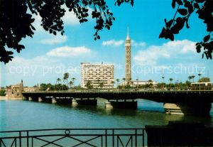 AK / Ansichtskarte Kairo Aussichtsturm Tahrit Bruecke Kairo