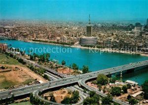 AK / Ansichtskarte Kairo Fliegeraufnahme Bruecke des 8. Oktober Kairo