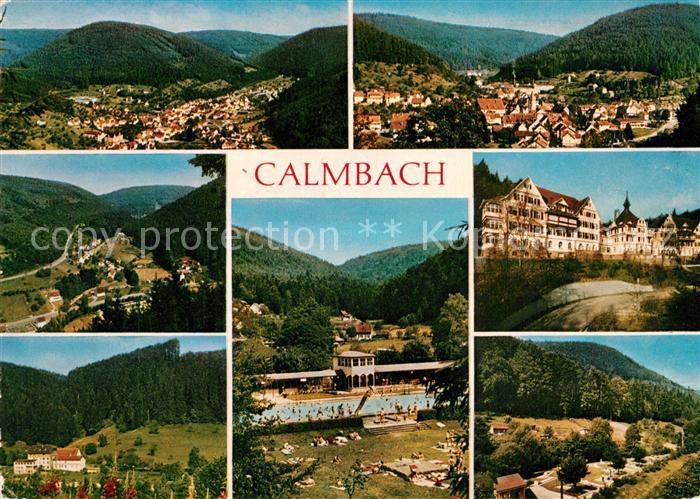 AK / Ansichtskarte Calmbach_Enz Fliegeraufnahme Panorama Schwimmbad Calmbach Enz