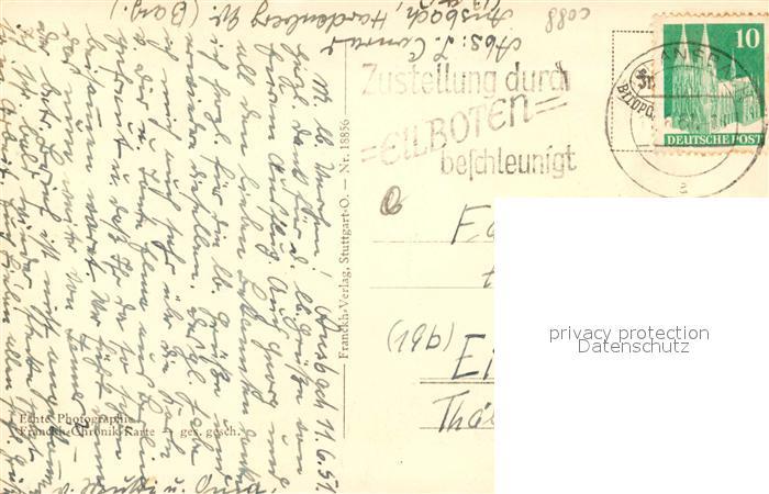 Mittelfranken Karte.Ak Ansichtskarte Ansbach Mittelfranken Stadtpanorama Franckh Chronik Karte Ansbach Mittelfranken