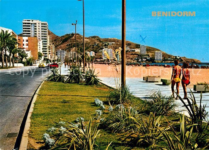AK / Ansichtskarte Benidorm Strand Promenade Benidorm