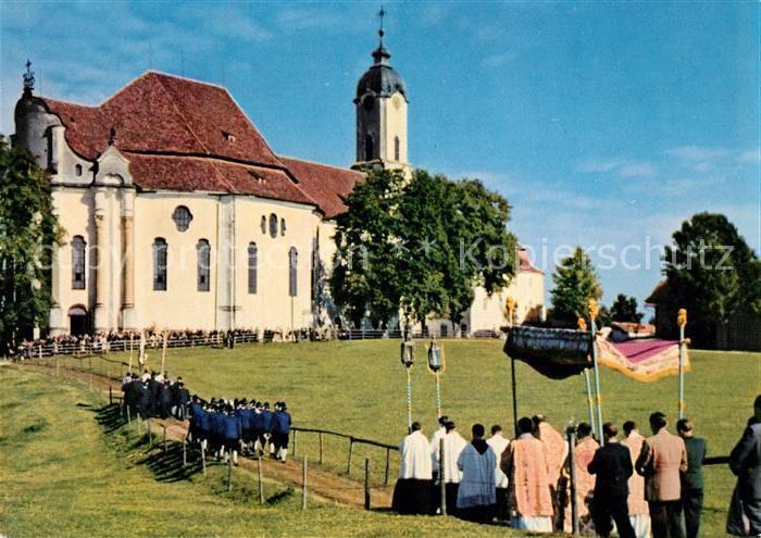 AK / Ansichtskarte Steingaden_Oberbayern Wallfahrtskirche Die Wies  Steingaden Oberbayern