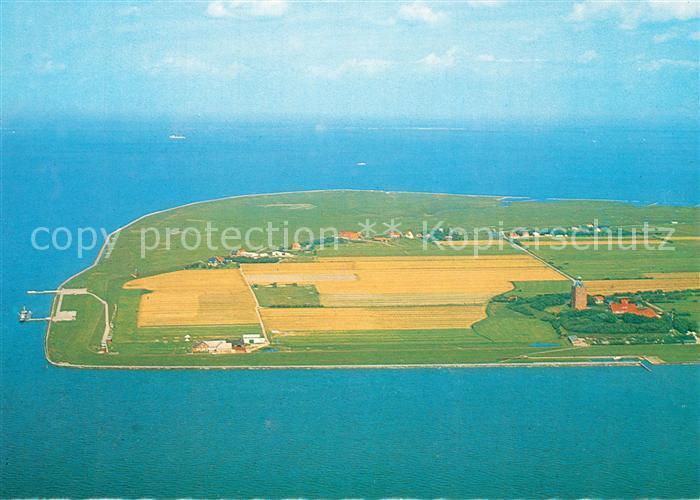 AK / Ansichtskarte Insel_Neuwerk Fliegeraufnahme Hauptschiffahrtsweg Insel Neuwerk