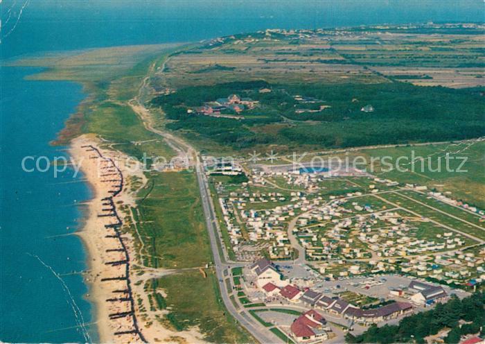 AK / Ansichtskarte Sahlenburg Fliegeraufnahme Strand Campingplaetze Sahlenburg