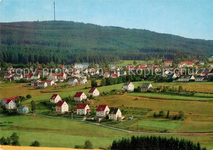 AK / Ansichtskarte Bischofsgruen Ochsenkopf Fernsehturm Bischofsgruen